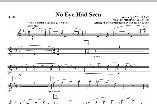 Mark Brymer No Eye Had Seen - Flute sheet music notes printable PDF score