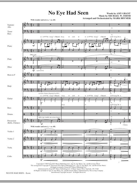 Mark Brymer No Eye Had Seen - Full Score sheet music notes printable PDF score