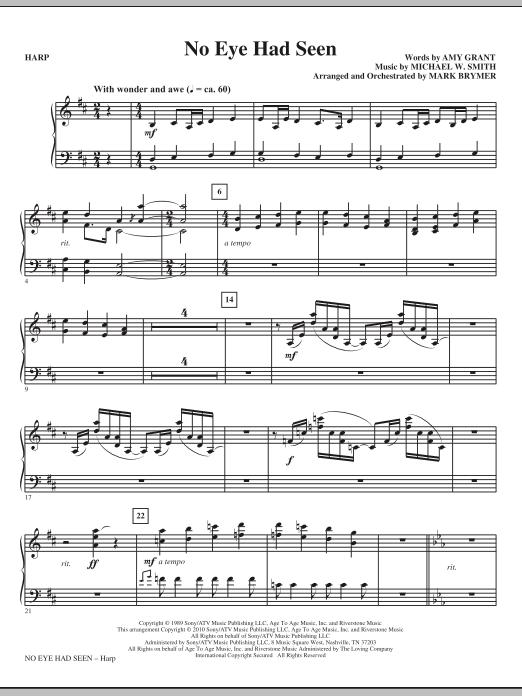 Mark Brymer No Eye Had Seen - Harp sheet music notes printable PDF score