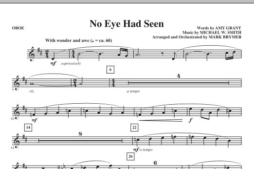 Mark Brymer No Eye Had Seen - Oboe sheet music notes printable PDF score