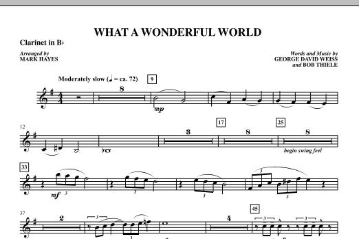 Mark Hayes What A Wonderful World - Bb Clarinet 1 sheet music notes printable PDF score