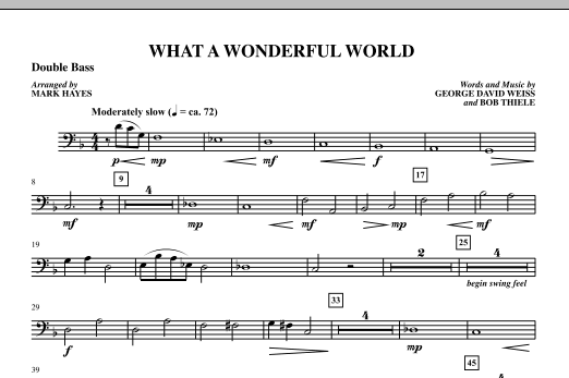 Mark Hayes What A Wonderful World - Double Bass sheet music notes printable PDF score