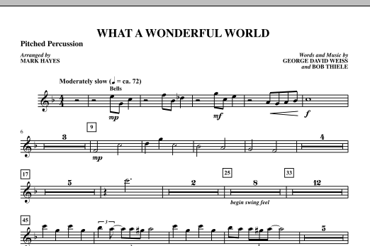 Mark Hayes What A Wonderful World - Percussion II sheet music notes printable PDF score