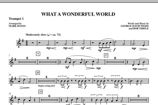 Mark Hayes What A Wonderful World - Trumpet 1 sheet music notes printable PDF score
