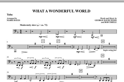 Mark Hayes What A Wonderful World - Tuba sheet music notes printable PDF score