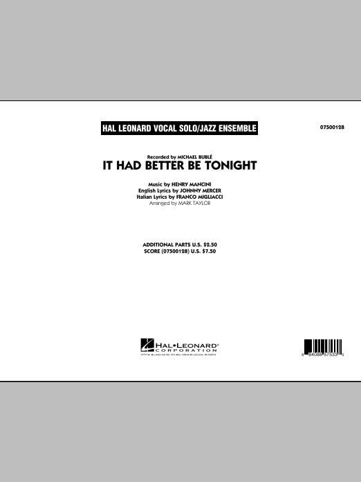 Mark Taylor It Had Better Be Tonight - Conductor Score (Full Score) sheet music notes printable PDF score