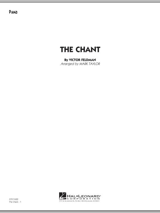 Mark Taylor The Chant - Piano sheet music notes and chords. Download Printable PDF.