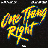 Download or print Marshmello & Kane Brown One Thing Right Digital Sheet Music Notes and Chords - Printable PDF Score