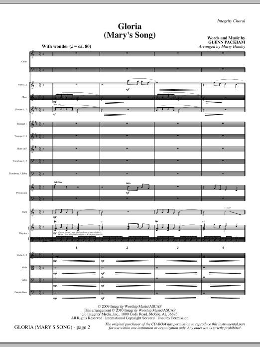 Marty Hamby Gloria (Mary's Song) - Full Score sheet music notes printable PDF score