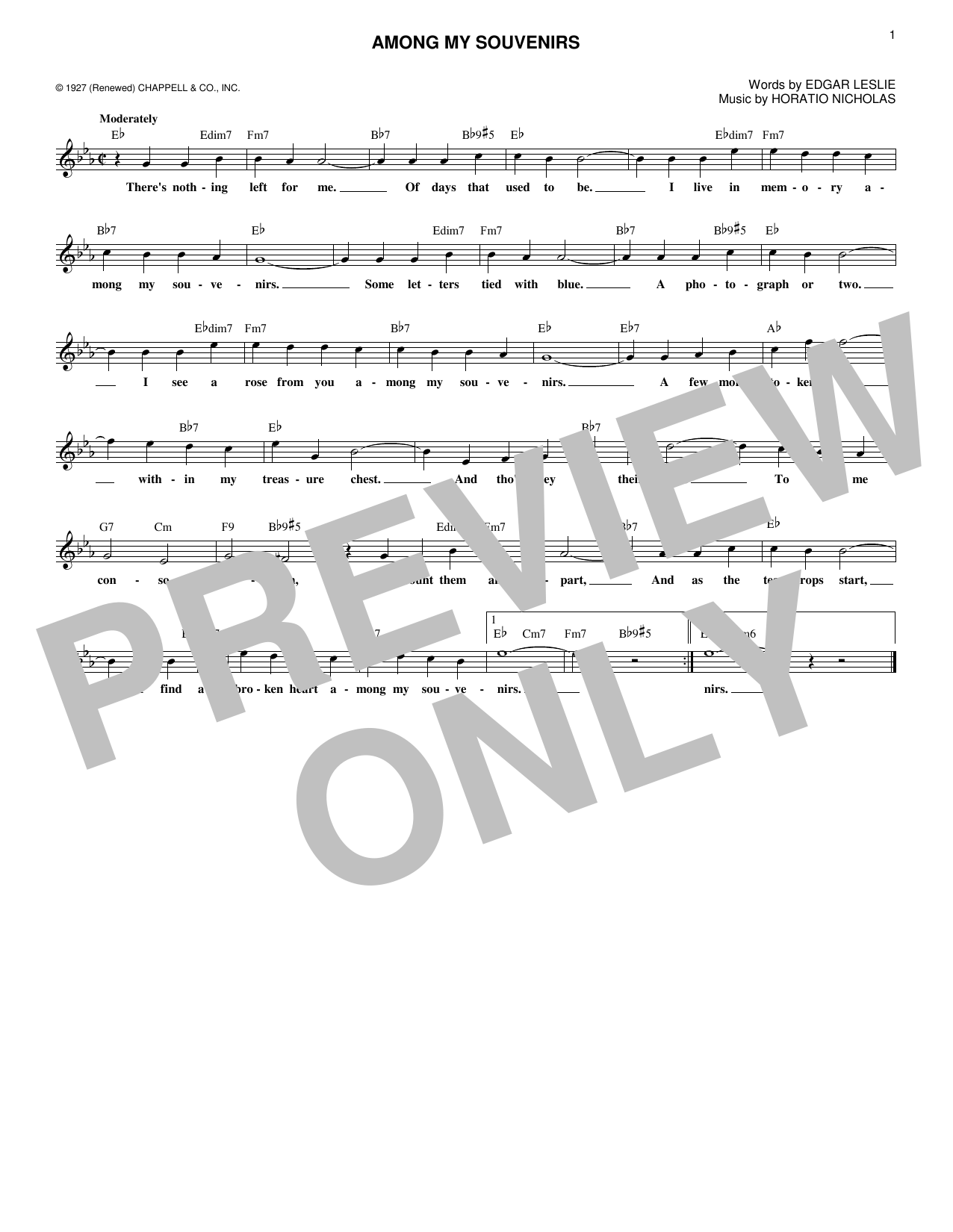 Marty Robbins Among My Souvenirs sheet music notes and chords. Download Printable PDF.