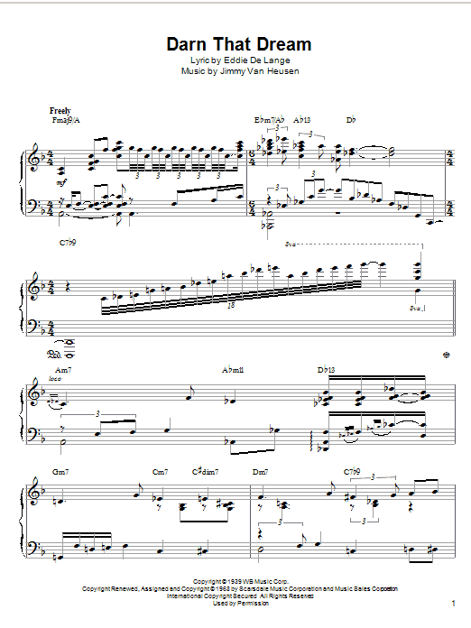 McCoy Tyner Darn That Dream sheet music notes and chords. Download Printable PDF.