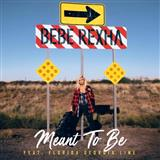 Bebe Rexha Meant To Be (feat. Florida Georgia Line) Sheet Music and Printable PDF Score | SKU 255274