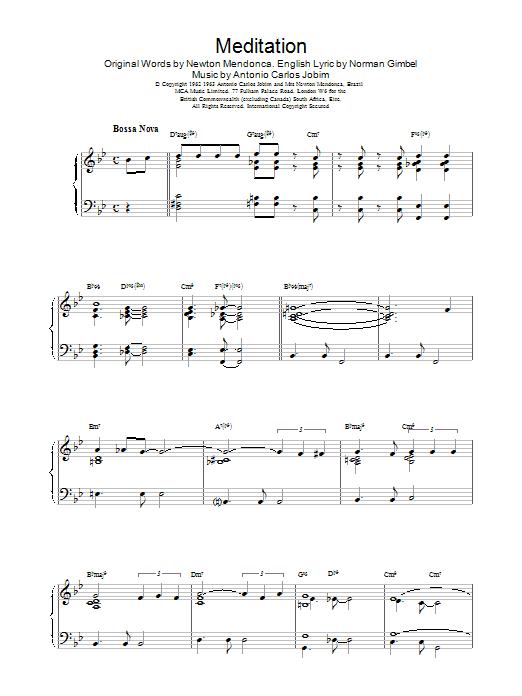 Gerry Mulligan Meditation sheet music notes printable PDF score