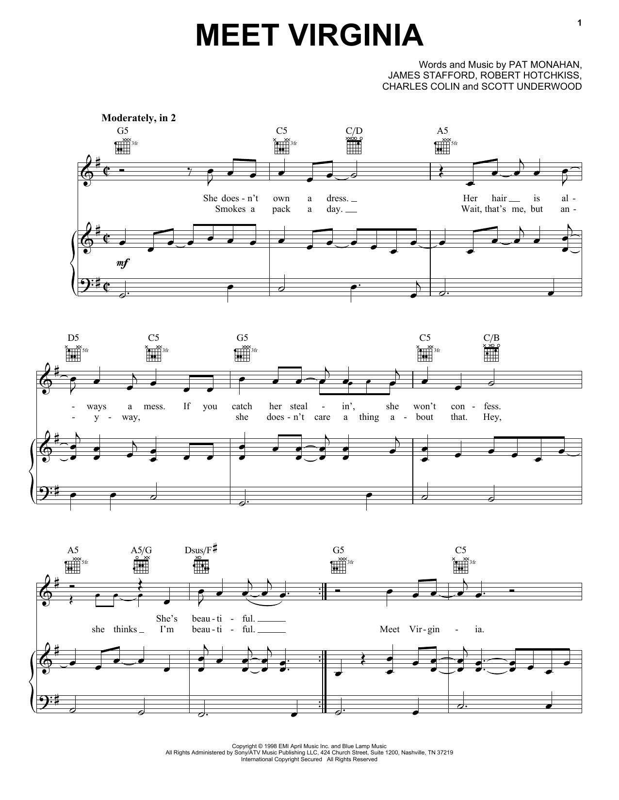 Train Meet Virginia sheet music notes printable PDF score