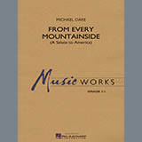 Michael Oare From Every Mountainside (A Salute to America) - Eb Baritone Saxophone Sheet Music and Printable PDF Score | SKU 329008