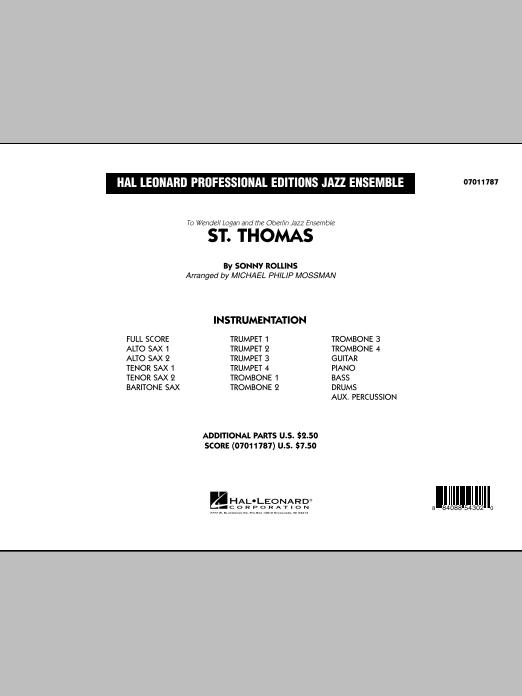 Michael Philip Mossman St. Thomas - Conductor Score (Full Score) sheet music notes printable PDF score