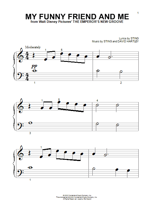 Sting My Funny Friend And Me sheet music notes printable PDF score