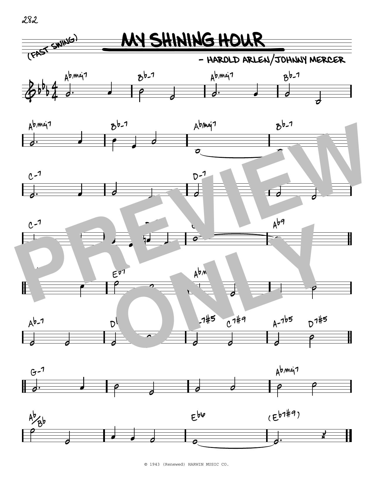 Harold Arlen and Johnny Mercer My Shining Hour [Reharmonized version] (arr. Jack Grassel) sheet music notes printable PDF score