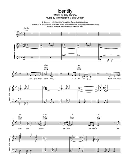 Natalie Imbruglia Identify (from Stigmata) sheet music notes printable PDF score