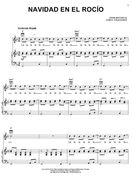José M. Maldonado Navidad En El Rocío sheet music notes printable PDF score