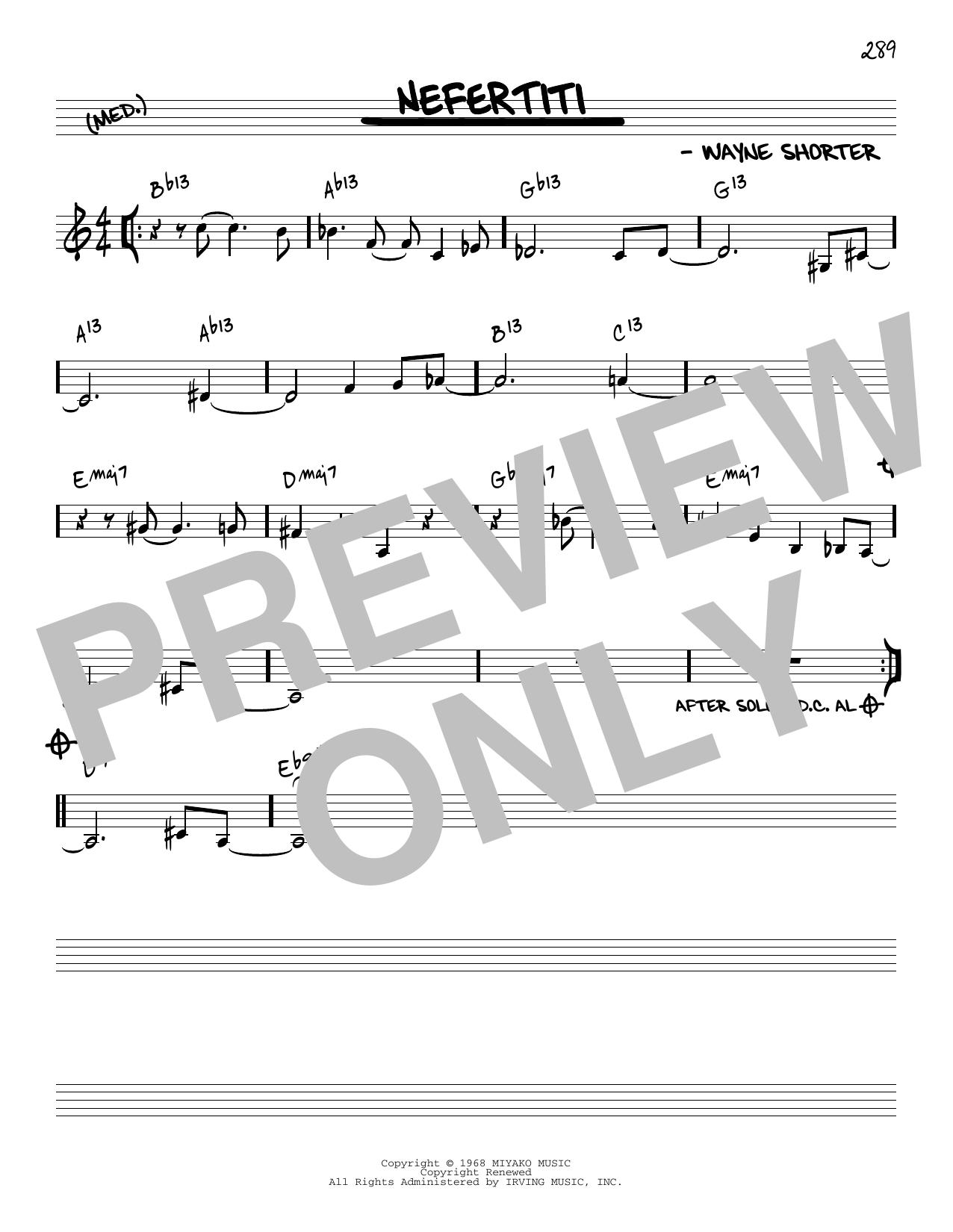 Wayne Shorter Nefertiti [Reharmonized version] (arr. Jack Grassel) sheet music notes printable PDF score