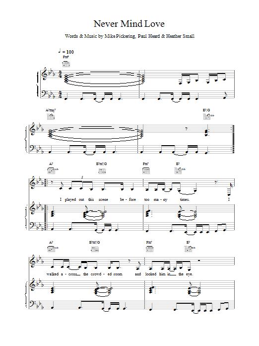 M People Never Mind Love sheet music notes printable PDF score