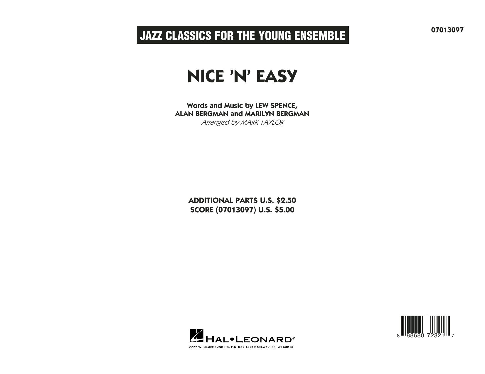Mark Taylor Nice 'n' Easy - Conductor Score (Full Score) sheet music notes printable PDF score