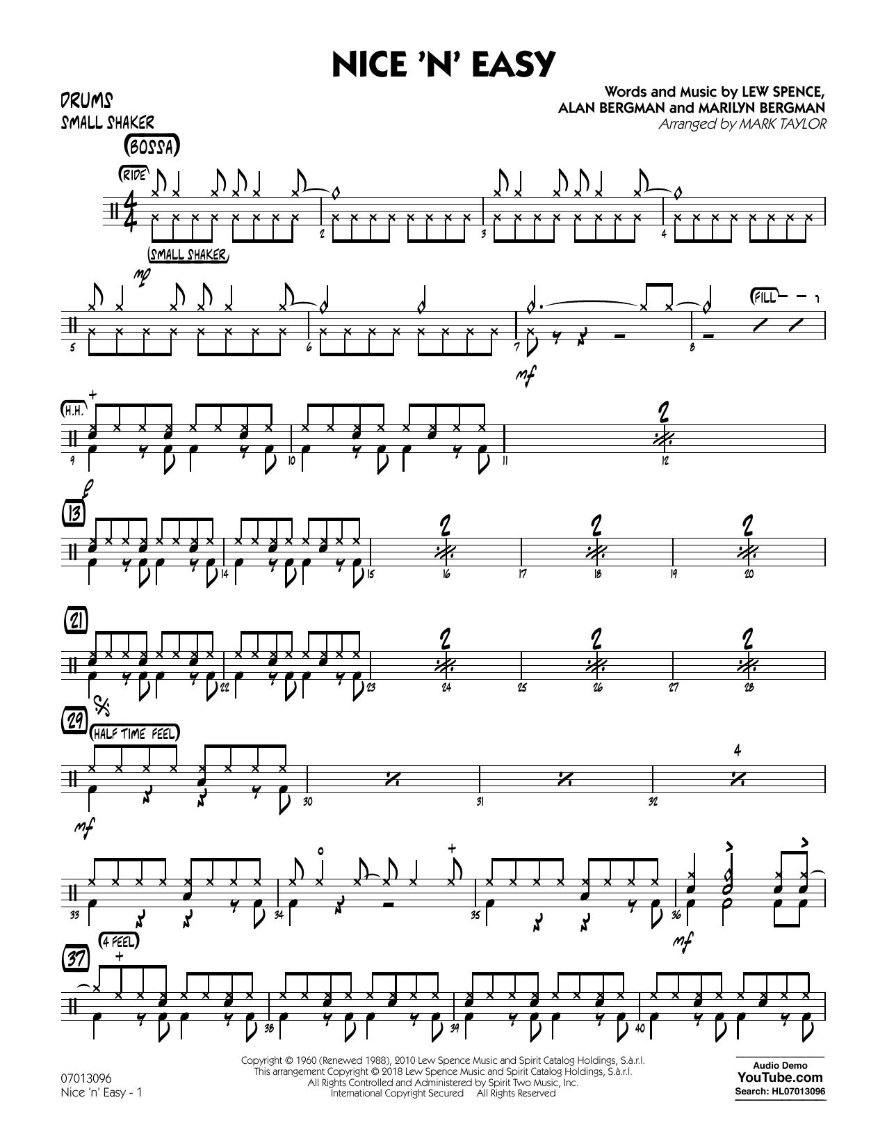 Mark Taylor Nice 'n' Easy - Drums sheet music notes printable PDF score