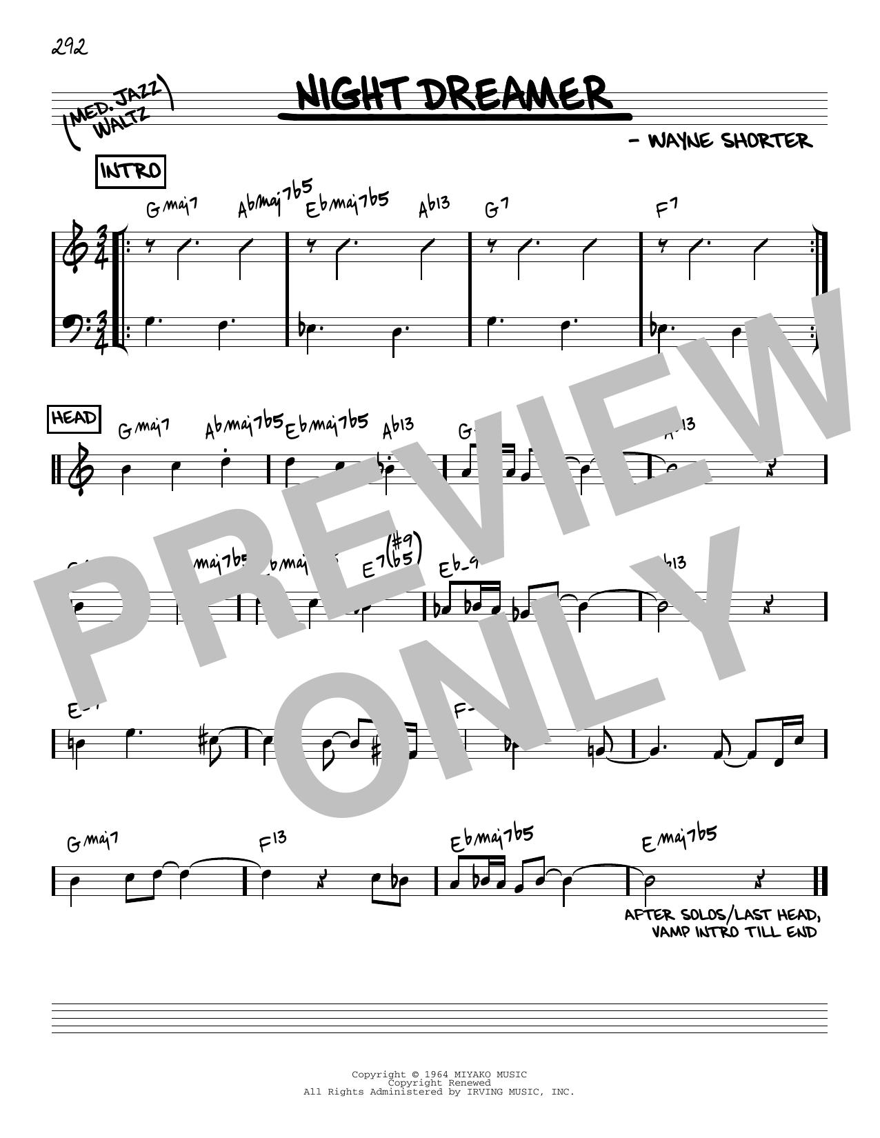 Wayne Shorter Night Dreamer [Reharmonized version] (arr. Jack Grassel) sheet music notes printable PDF score