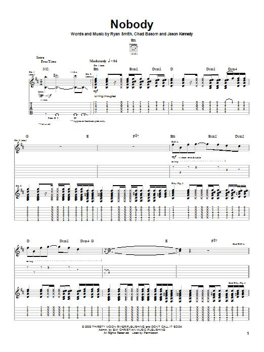 Cadet Nobody sheet music notes printable PDF score