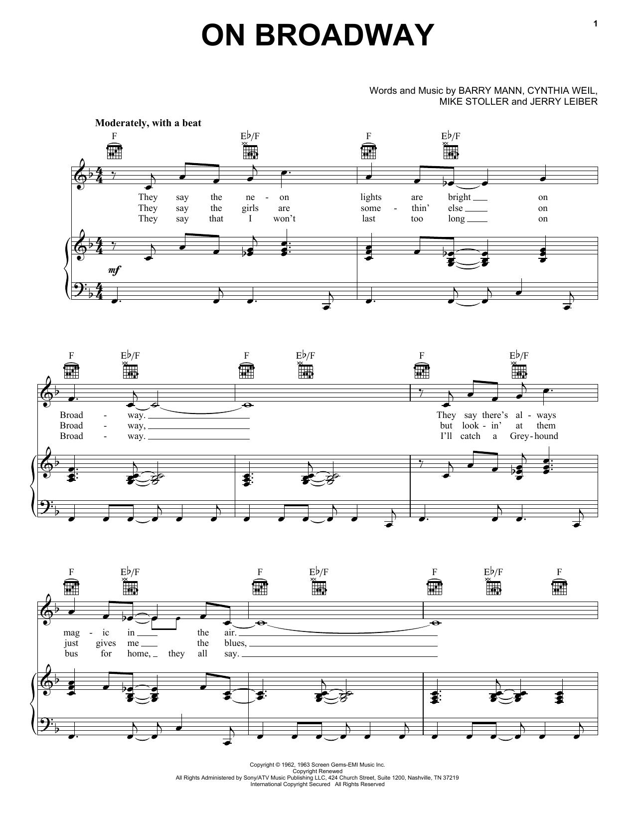 George Benson On Broadway sheet music notes printable PDF score