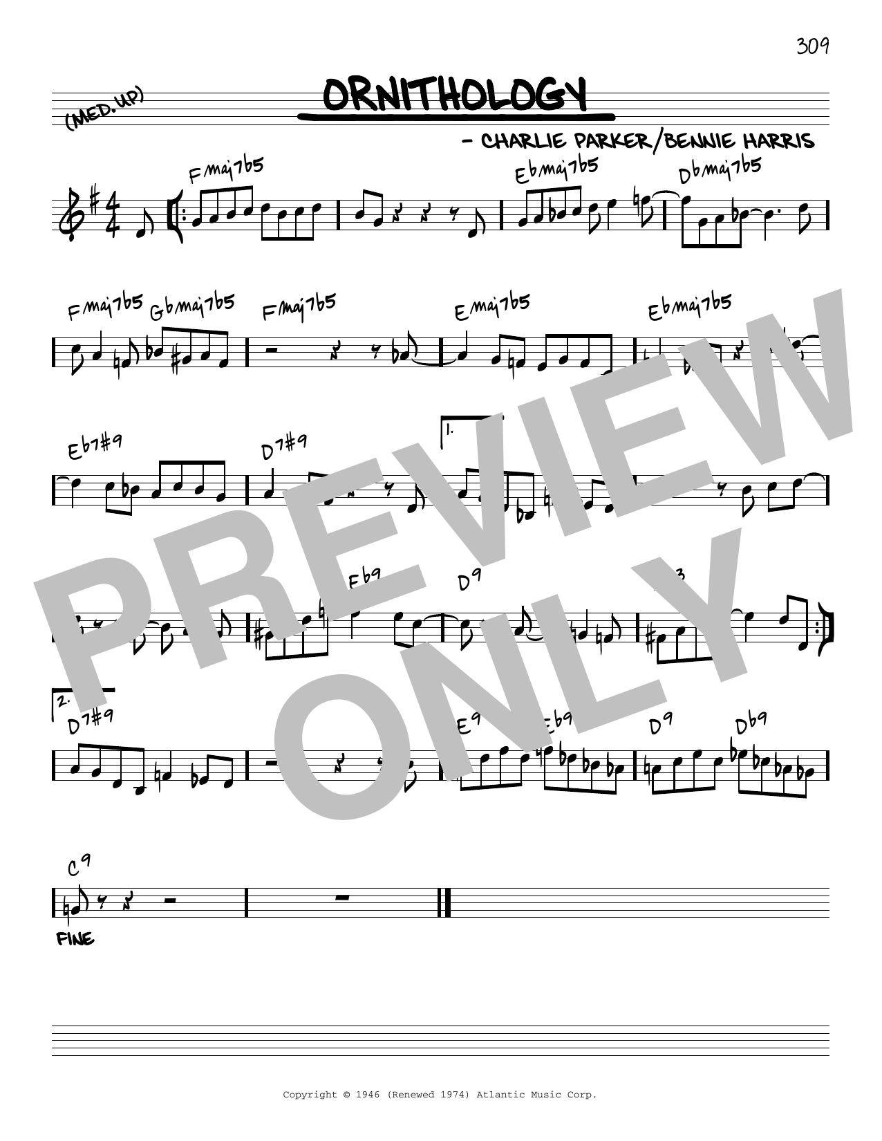 Charlie Parker Ornithology [Reharmonized version] (arr. Jack Grassel) sheet music notes printable PDF score