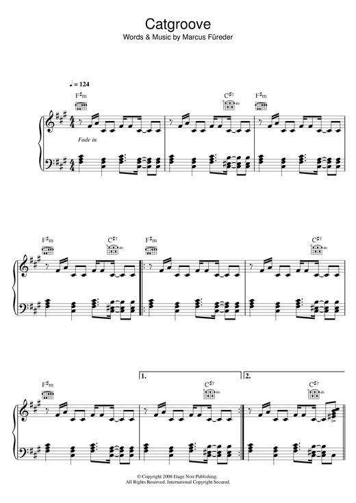 Parov Stellar Catgroove sheet music notes and chords. Download Printable PDF.