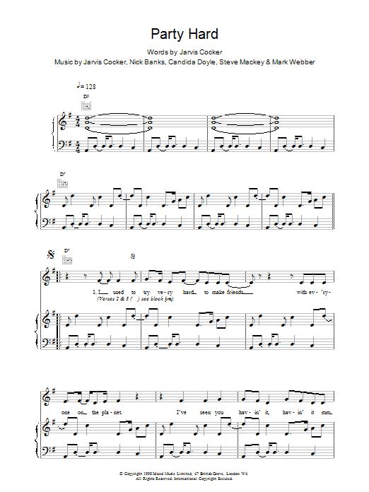 Pulp Party Hard sheet music notes printable PDF score