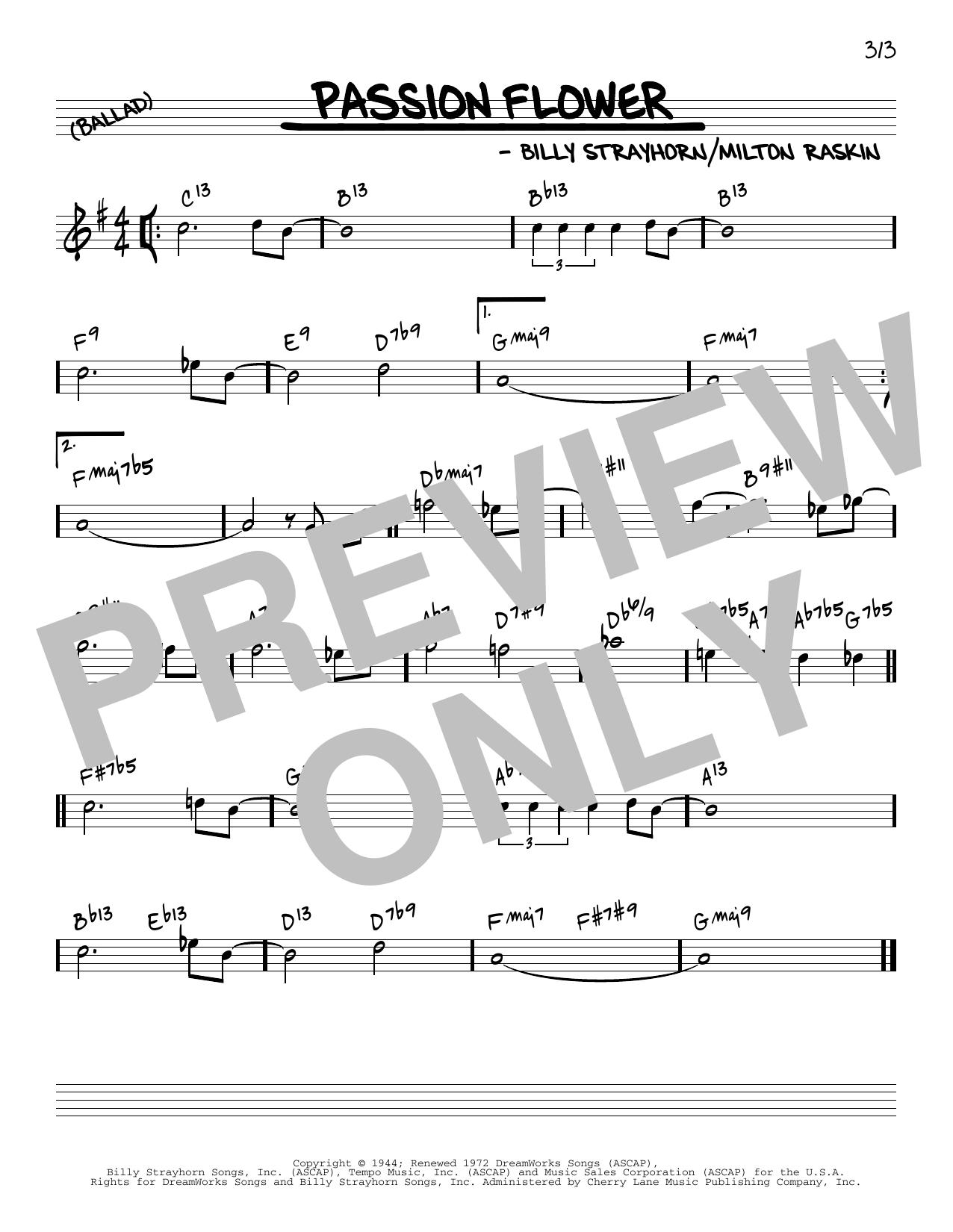 Billy Strayhorn Passion Flower [Reharmonized version] (arr. Jack Grassel) sheet music notes printable PDF score