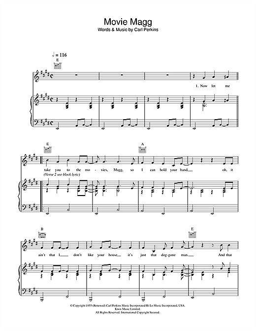 Paul McCartney Movie Magg sheet music notes printable PDF score