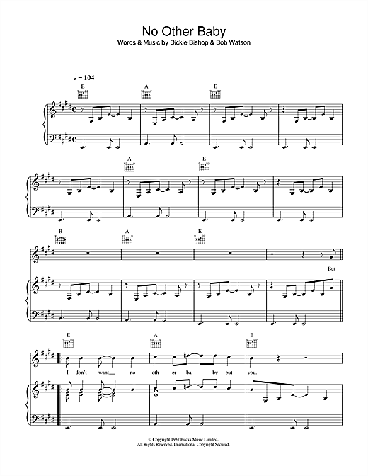 Paul McCartney No Other Baby sheet music notes printable PDF score