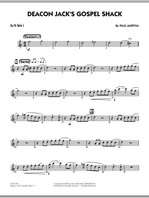 Paul Murtha Deacon Jack's Gospel Shack - Alto Sax 1 sheet music notes and chords. Download Printable PDF.