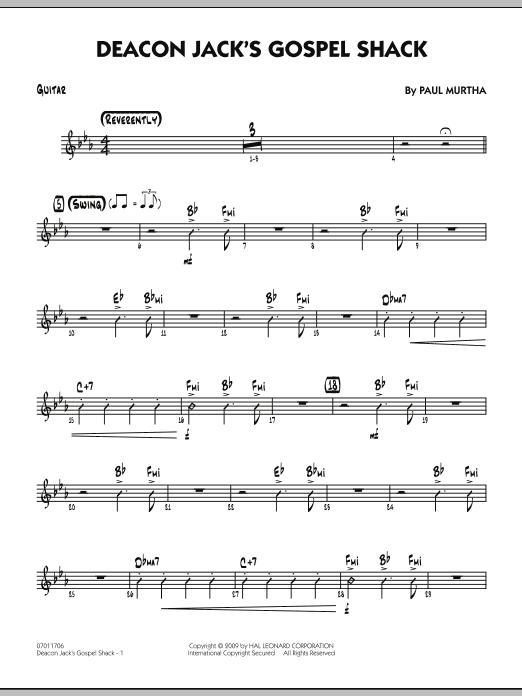 Paul Murtha Deacon Jack's Gospel Shack - Guitar sheet music notes and chords. Download Printable PDF.