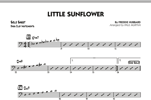 Paul Murtha Little Sunflower - Bass Clef Solo Sheet sheet music notes and chords. Download Printable PDF.