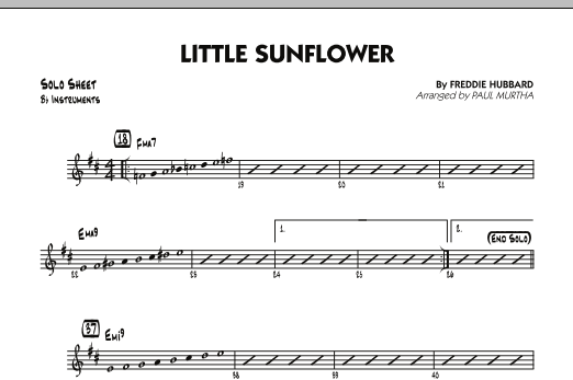 Paul Murtha Little Sunflower - Bb Solo Sheet sheet music notes and chords. Download Printable PDF.