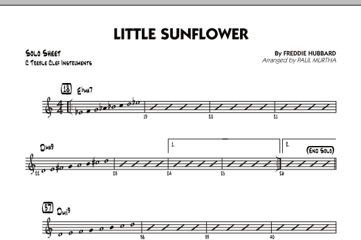 Paul Murtha Little Sunflower - C Solo Sheet sheet music notes and chords. Download Printable PDF.