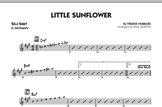 Paul Murtha Little Sunflower - Eb Solo Sheet sheet music notes and chords. Download Printable PDF.
