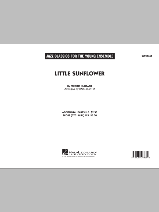 Paul Murtha Little Sunflower - Full Score sheet music notes and chords. Download Printable PDF.