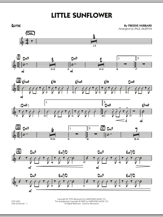Paul Murtha Little Sunflower - Guitar sheet music notes and chords. Download Printable PDF.