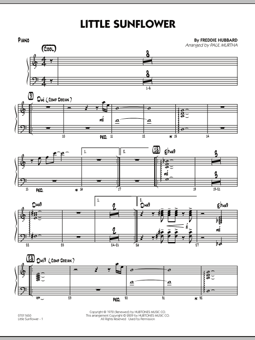 Paul Murtha Little Sunflower - Piano sheet music notes and chords. Download Printable PDF.