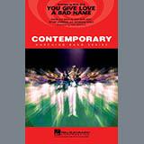 Paul Murtha You Give Love a Bad Name - Eb Baritone Sax Sheet Music and Printable PDF Score   SKU 277265