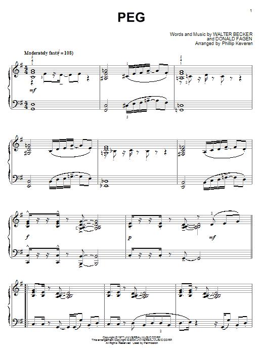 Steely Dan Peg sheet music notes printable PDF score