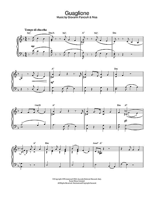 Perez Prado Guaglione sheet music notes printable PDF score