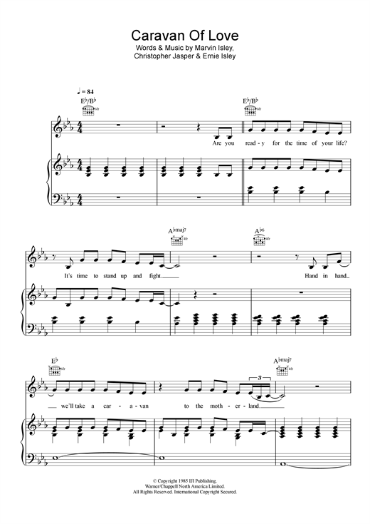 Pixie Lott Caravan Of Love sheet music notes and chords. Download Printable PDF.